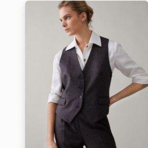 Massimo Dutti Womens Wool Suit Vest Size Large
